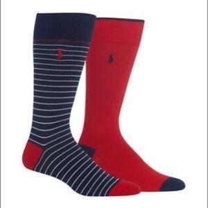 Polo Ralph Lauren Thin Stripe Slack 2-Pack Socks